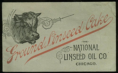 National Linseed Oil Ground Linseed Cake Feed for Cattle & Horses booklet c 1900 ()
