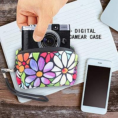 Digital Camera Case Bag Small Pouch Coin Purse Soft Neoprene Wristlet Wallet for Sony Samsung Nikon Canon Kodak Panasonic by eyscar