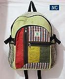 Cheap Nepali Handmade Hemp Rasta Backpack – 100% Pure Hemp (THC FREE) Backpack Handmade Nepal with Laptop Sleeve – Fashion Cute Travel School College Shoulder Bag / Bookbags / Daypack