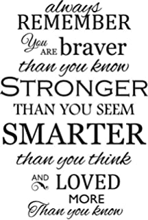 Amazoncom Always Remember Winnie The Pooh Quote Vinyl Wall Art