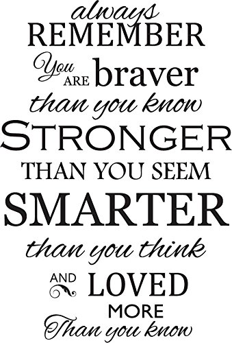 Amazoncom Newclew Always Remember You Are Braver Than You Know