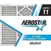 Aerostar FBA_20x25x5 Honeywell MERV 11 Honeywell Replacement Pleated Air Filter, Pleated (Pack of 2)