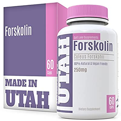 Forskolin For Weight Loss Are All Natural Dietary Supplements Derived From A Cactus Extract Used As An Appetite Suppressant And Fat Burner That Helps Speed Up Thermogenesis, Vegan, 60 Capsules