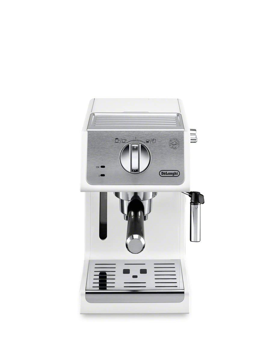 De'Longhi ECP3220W 15 Bar Espresso Machine with with Advanced Cappuccino System, White