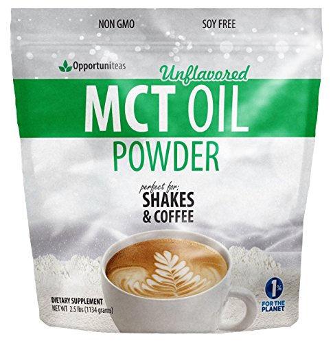 MCT Oil Powder - Delicious Creamer for Coffee, Tea, Smoothie, Recipes - Keto, Ketogenic & Diet Friendly - Powdered for Easy Mixing & Digestion - Energy for Exercise, Workout, or Travel - 2.5 lb