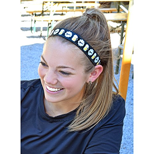 "Bottom's Up Beer – Sweaty Bands Non-Slip Fitness Headband – 1"" Wide Fashion Accessory"