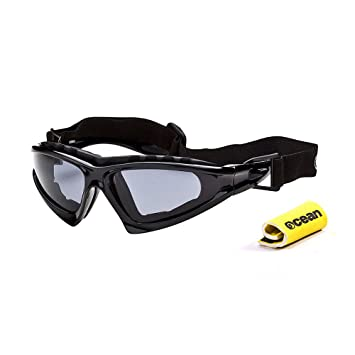Ocean Sunglasses Cabarete - Gafas de Sol polarizadas - Montura : Negro Brillante - Lentes :