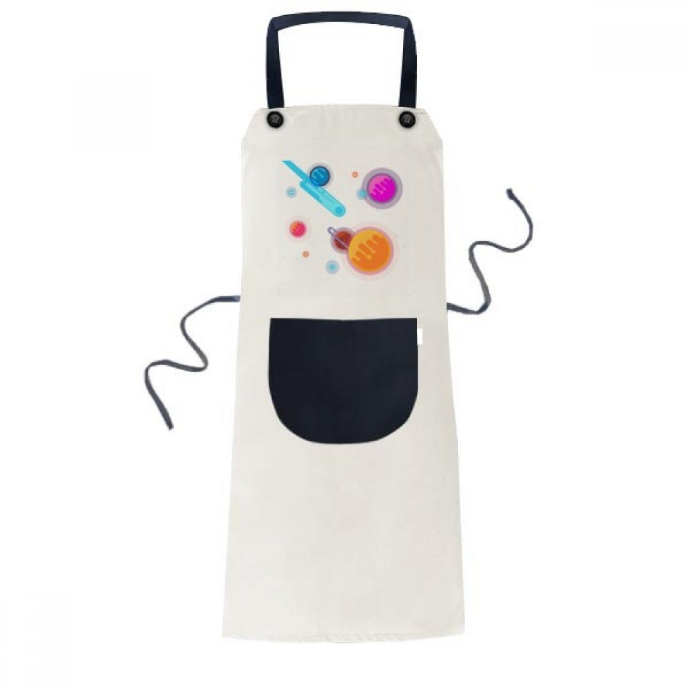 DIYthinker Universe Alien Monster Space Scenery Apron Cooking Bib Black Kitchen Pocket Women Men by DIYthinker (Image #4)