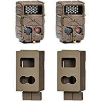 Cuddeback E2 Long Range IR Micro 20MP Game Trail Camera, 2 Pack + Security Boxes