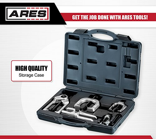 ARES 70840 | Front End Service Set | Allows for Easy Removal of Most Popular Types of Pitman Arms, Tie Rods and Ball Joints Storage Case Included by ARES (Image #4)