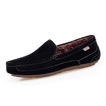 Zapatos Mocasines para hombre 2018 Mocasines de conducción cómodos ocasionales de los hombres con el color