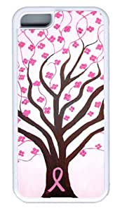 DIY Rubber White Best Fashion iphone 5C Case Breast Cancer Awareness Dawn Plyler