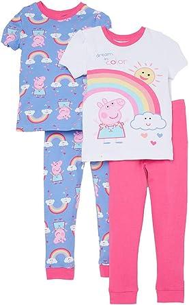 eOne Peppa Pig Little Girls Toddler Cotton Pajama Set