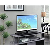 Convenience Concepts Designs2Go Single Tier TV Swivel Board for Flat Panel TVs Up to 32-Inch or 60-Pounds, Black