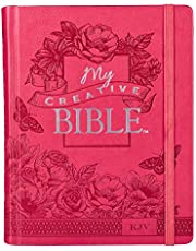 Bright Pink Faux Leather Hardcover My Creative Bible - KJV Journaling Bible
