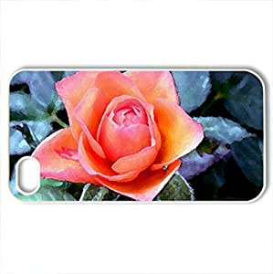 BEAUTIIFUL ROCase For Sumsung Galaxy S4 I9500 Cover (Flowers Series, Watercolor style, White)