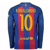 2016-17 Barcelona Home Long Sleeve Shirt (Ronaldinho 10)