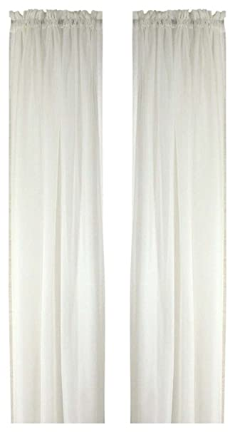 Curtains Ideas 54 inch long curtain panels : Amazon.com: Ricardo Oyster Bay Sheer Voile Curtain Panel, 54-Inch ...