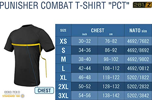 d73dacf59 Amazon.com  281Z Military Stretch Cotton Underwear T-Shirt - Tactical  Hiking Outdoor - Punisher Combat Line  Clothing