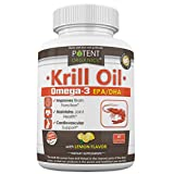 Premium Krill Oil - Nutritional Supplement - Omega 3 EPA/DHA - Burpless With Lemon Flavor - Best for Cardiovascular and Joints Health - 60 Softgel Caps