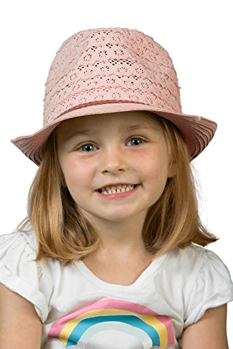 Funky Junque H-6044-65 Children's Eyelet Lace Fabric Fedora: Rose]()