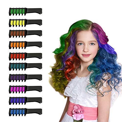 Halloween Makeup For Teens (Birthday Gifts for 3-15 Year Old Teen Girls,Snoky Hair Chalk Comb Set Toys Christmas Halloween Gifts for 3-15 Year Old Teen Girls Hair Chalk for Girls Kids Makeup Kit Stocking)