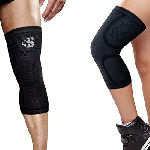 - Best Strength Knee Compression Sleeve - Strength Sleeves Brand Knee Support Guaranteed Best Recovery Brace for Knees Wrap for Leg Pain, Patella Knee, Arthritis, Running, Weightlifting, Workout