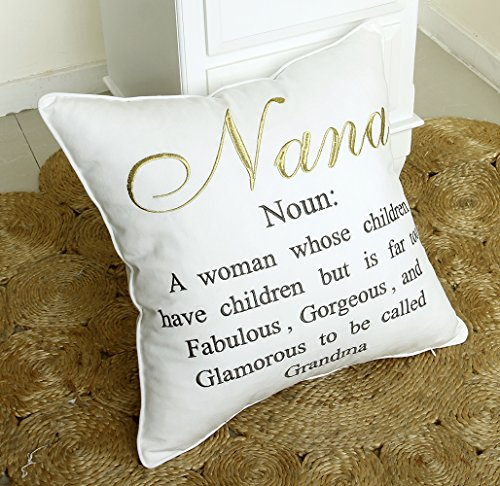 Embroidered Pillow case Decorative Cushion Cover Grandmother Gift