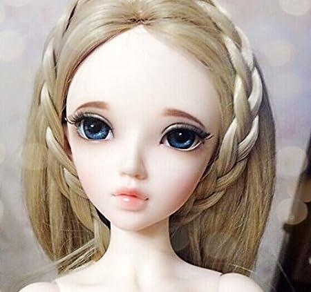 BJD Doll 1//4 Girl Free Face Make UP+Eyes Resin
