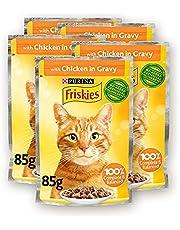 Purina Friskies Chicken Chunks in Gravy Wet Cat Food Pouch 85g (5 Pieces)