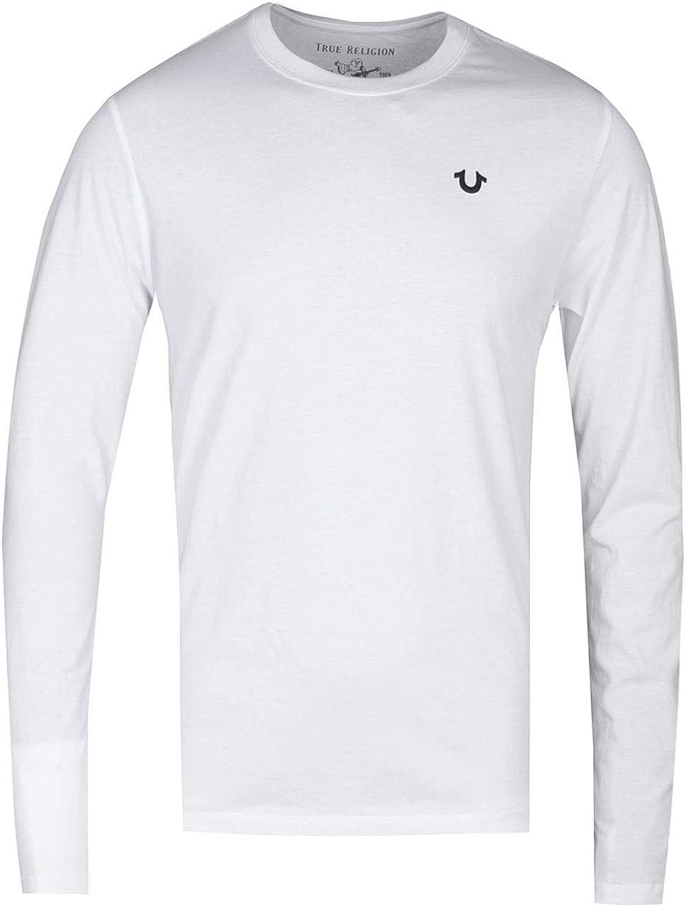 True Religion Camiseta Blanca con Cuello Redondo y Manga Larga: Amazon.es: Ropa y accesorios