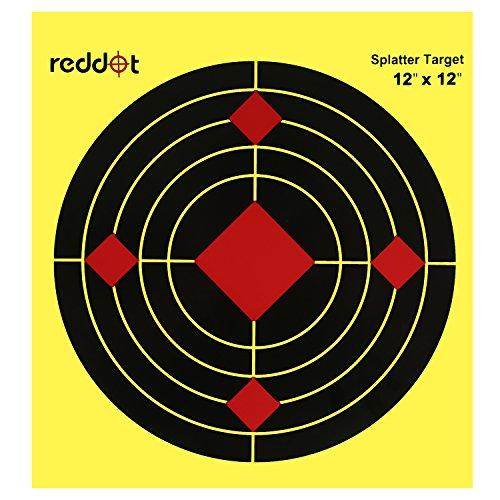 Reddot Shooting Targets - 12 inch Splatter Reactive Paper Ta