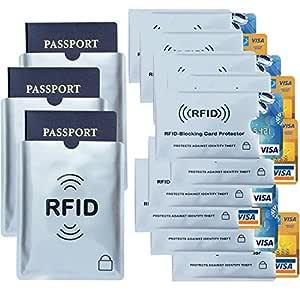 Houseables RFID tarjeta de Crédito y pasaporte Protector funda ...