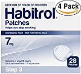 Novartis Habitrol 7mg Nicotine Patches, Step 3. Stop Smoking. 4 boxes of 28 each (112 patches) 7 MG
