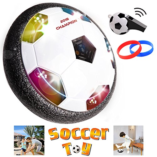 Maxxrace Kids Sport Toys Hover Training Soccer Football Indoor Outdoor Game Ball with Foam Bumpers and Powerful LED Lights Good for Boys Girls Bonus Whistle and Bracelet 51hZzFl6nKL