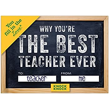 Knock Knock 50256 Why You're the Best Teacher Ever Fill in the Love Journal