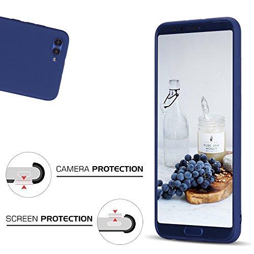 Funda Huawei Honor V10, Carcasa Honor View V10, CaseLover Suave TPU Silicona Carcasa para Huawei Honor V10 / View 10 Ultra Delgado Flexible Mate Goma Gel Protectiva Caso Anti Rasguños Cubierta Case Co Azul oscuro