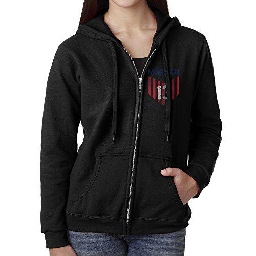 KJhsfub Casual Womens USA Soccer Player Alex Morgan Full-Zip Sweatshirt Hoodie Jacket Large