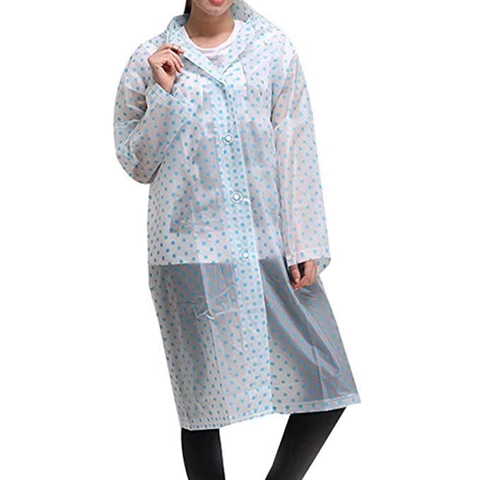 0393f1601 HX fashion para Mujer para Hombre Eva See Through Basic Impermeable ...