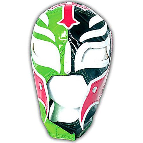 Official Rey Mysterio Kids YOUTH Replica Mask No Mercy 2007 Half Green / Half Black (Mysterio Kids Wwe Rey Mask For)