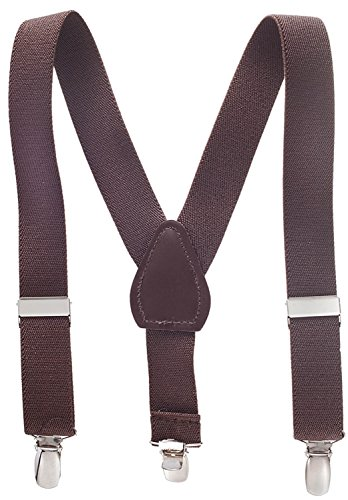 - Suspenders for Kids - 1 Inch Suspender Perfect for Tuxedo - Brown (30