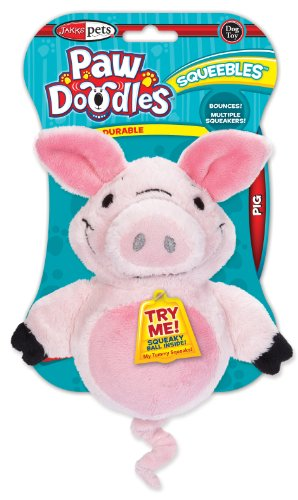 Pawdoodles Squeebles Dog Toy, Pig, My Pet Supplies