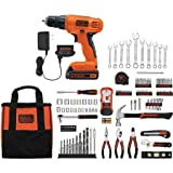 20V Lithium Drill/Driver with 128-Piece Project Kit, Orange
