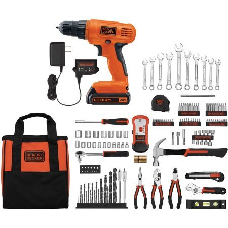 20V Lithium Drill/Driver with 128-Piece Project Kit, (Usa Drill Kit)