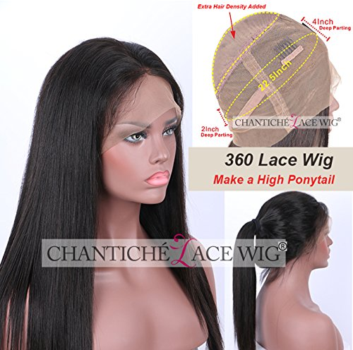 Chantiche Wig Natural Straight Brazilian Lace