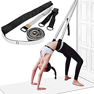 Well-Being-Matters 51ha-Fyk6pL._SS300_ Yoga Strap for Stretching, Leg Stretcher Pilates Equipment for Home Gym, Back Bend Assist Trainer Waist Flexibility…