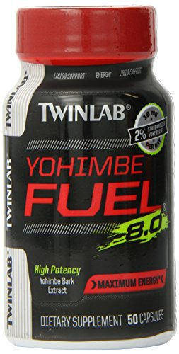 Twinlab Yohimbe Fuel Diet Supplement Capsules, 50 Count