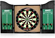 ONE80 All-in-One Dartgame Center with Self-Healing Sisal/Double-Sided Dartboard & Multifunctional Cabinet