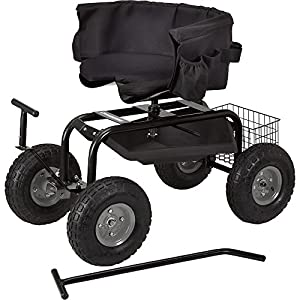 Rolling Garden Cart With Seat
