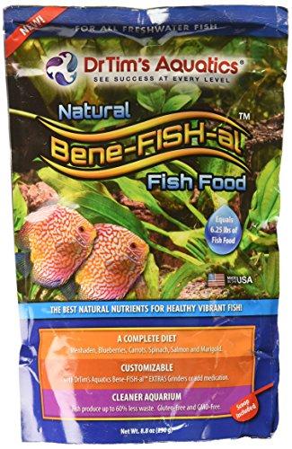 - Dr. Tim's Aquatics Bene-FISH-al  Freshwater Fish Food (Economy Pouch), Protein + Vitamins + Probiotics + Grain & Gluten-Free